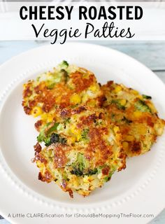 Easy Cheesy Roasted Veggie Patties - your family may never mind eating their veggies again!