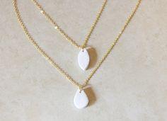 DIY clay beads necklaces