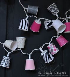 Dixie Cup party lights.  #gelighting
