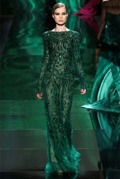 Esmerald Green Sequin Gown