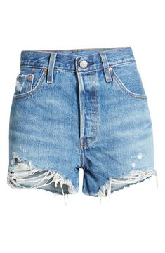 Sporty Chic Outfits, Sporty Chic Style, Short Outfits, Fashion Outfits, Denim Outfit, Denim Shorts, Jeans Levis, Levis 501 Original, Vintage Levi Shorts