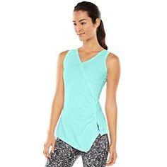 63e38dcd5380a3 Gaiam Divine Faux-Wrap Yoga Tank - Women s Fashion Tips