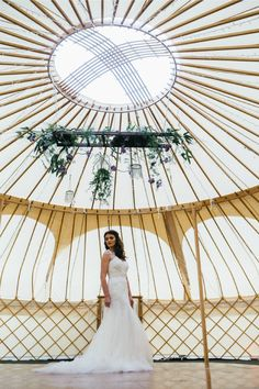 50ft Yurt from Yorkshire Yurts with beautiful bride