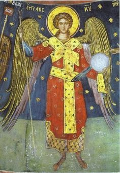 Eastern orthodox icon of the Angel of God Contemporary icon. NOTE: the sizes of the icon are NOT exact. The name of the store on the icon is just a watermark. Archangel Raphael, Archangel Gabriel, Byzantine Icons, Byzantine Art, Monastery Icons, Church Icon, Angel Artwork, Religious Icons, Religious Studies