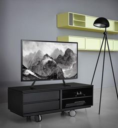 """Fitueyes Universal TV Stand/tabletop vase /Base TV Table Top for 32"""" to 60"""" LCD LED Flat Screen TVs Universal Table Desk Pedestal TV Stand -TT06801MB"""
