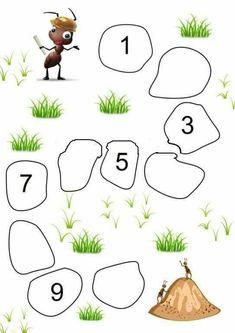 Moi truong chu so Kindergarten Math Activities, Preschool Writing, Numbers Preschool, Preschool Learning Activities, Preschool Printables, Preschool Worksheets, Fun Worksheets For Kids, Math For Kids, Wall Photos