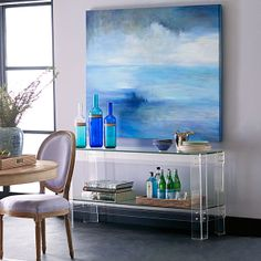 Wisteria - Furniture - Shop by Category - Consoles & Buffets - Acrylic and Glass Console - $1,099.00