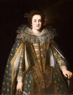 Margherita di Cosimo II ; portrait of a Medici Princess by Justus Susterman (Ball State University - Muncie, Indiana USA)