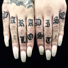 50 Individual Knuckle Tattoo Designs Ideas - Self Expression Check more at http://tattoo-journal.com/50-individual-knuckle-tattoo-designs-ideas-self-expression/