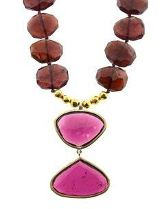 Garnet and Pink Tourmaline Necklace