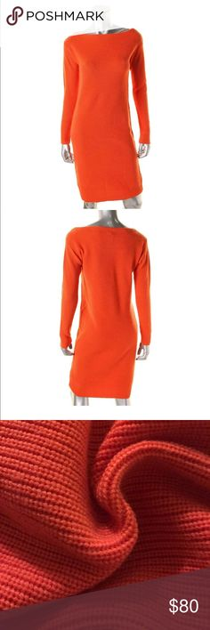 Lauren Ralph Lauren Petite Wool Sweater Dress PM Campfire Orange Color Size Petite Medium Long Sleeves Retail Price: $225 Lauren Ralph Lauren Dresses