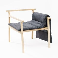 Signe Hytte just graduated from the Danish design school TEKO and is pursuing furniture design. Recently exhibited at Greenhouse in Stockholm, the Little Giant chair is a simple design with Japanese inspiration.