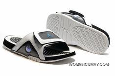 8f4cf78edcfcc Jordan Hydro 13 Slide Sandals White Black Blue Authentic