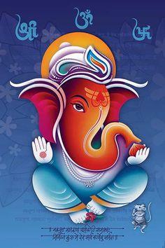 Ads Art Poster Wall decorative and Personalise Greeting cards Clay Ganesha, Ganesha Art, Ganesh Chaturthi Images, Happy Ganesh Chaturthi, Ganesha Pictures, Ganesh Images, Lord Ganesha Paintings, Krishna Painting, Hanuman Murti
