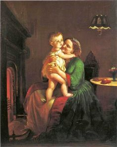 19C American Women: Life in America: Genre Paintings by Lilly Martin Spencer (1822 –1902)