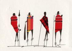 Masai Postcard Art - My Modern Met