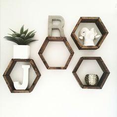Octagon wall shelves