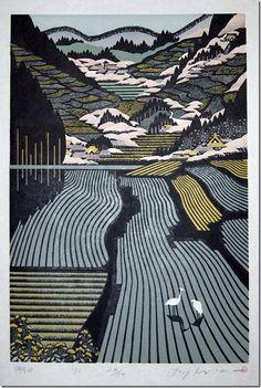 woodblock prints by ray morimura.