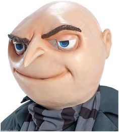 Despicable Me 2 Movie Gru Mask Minion Halloween Costume Vinyl Adult Party Head