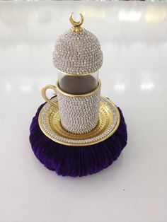 Turkish Tea Cup, Crystal Coated