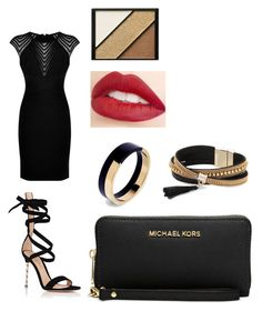 """""""fancy date night"""" by someguy6 ❤ liked on Polyvore featuring Hervé Léger, Gianvito Rossi, Jouer, Elizabeth Arden, Marni, Simons and Michael Kors"""