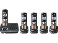 Panasonic KX-TG6445T DECT 6.0 Cordless Phone with Answering System, Metallic Black, 5 Handsets by Panasonic. $164.99. From the Manufacturer                From the Manufacturer At Panasonic, we never stop trying to increase our knowledge of the ways in which technology can improve people's lives. That's why we've engineered our latest line of DECT 6.0 digital telephones with even more innovative features that enhance the way you communicate. Designed to complement your lifestyle ...