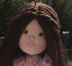 Fili e Gomitoli: embrodery doll eyes.