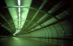 Empty tunnels and corridors.