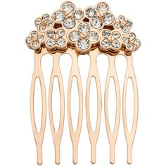 Henri Bendel Petal Crystal Comb (€35) ❤ liked on Polyvore featuring accessories, hair accessories, rose gold, henri bendel, hair combs, hair combs accessories, henri bendel hair accessories and crystal hair comb