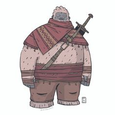 Scarfed Yetee: commission for @theyetee  -  -  -  #illustration #fantasy #yeti #characterdesign #costumedesign #art #digitalart #conceptart