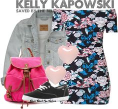 Inspired by character Kelly Kapowski from Saved By The Bell played by Tiffani-Amber Thiessen.