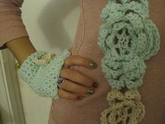 Great scarf and finger less gloves set by MadewithlovebyFatima, $25.00
