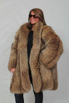 finnish raccoon fur coat