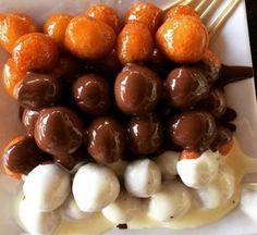 زلابيه بالشيكولاته من أيمن العطلر Mixed chocolate Jalebi by Ayman Al Aatar #شوكولاتة #حلويات #السعودية
