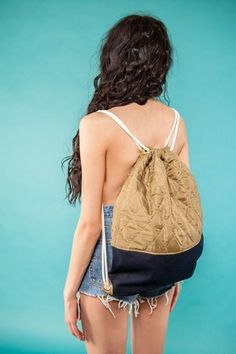 "Gym Bag ""Mustard Denim""  49 EUR"