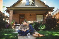 At home engagement session, June Cochran Photography