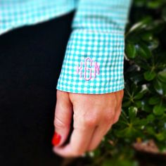 I want to have a little monogram on the side of the pocket of my khakis!