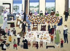 07 September we celebrate the long life of Grandma Moses, born in 1860. Grams left the kitchen table for the last time in 1961.
