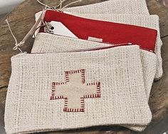 red cross pouches . . .