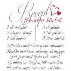 Väggord: Recept för äkta kärlek med beskrivning