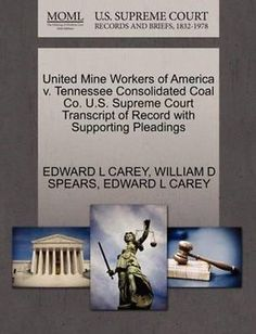 United mine #workers of #america v. tennessee consolidated coal co. #u.s....,  View more on the LINK: http://www.zeppy.io/product/gb/2/191402860121/