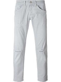 DONDUP Knee Distressed Straight Leg Jeans. #dondup #cloth #jeans