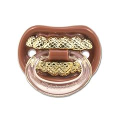 Billy Bob Grillz Pacifier (Gold, Red), Yellow