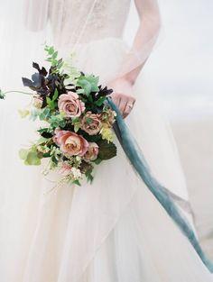 Ethereal & Delicate Oregon Coast bridal shoot via Magnolia Rouge