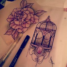 bird cage tattoo sleeve - Google Search