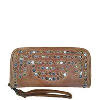 Cadelle Leather Clutch Wallet - Arabian Stud - Camel Clutch Wallet 541433272dcbc