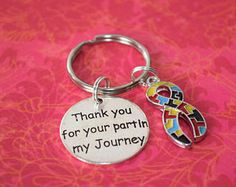 Thank you for your part in my journey keychain, teacher gift, teacher appreciation, autism teacher gift, therapist gift