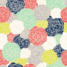 Cute removable wallpaper, maybe for the inside of bookcases/cabinets. Removable Wallpaper  Blossom Print Multi by GailWrightatHome