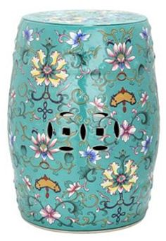 Safavieh Furniture Water Lily Garden Stool Water Lily Garden Stool Inspired by the bold floral patterns of century Chinese export porcelain Ceramic Stool, Ceramic Garden Stools, Ceramic Art, Keramik Vase, Chinese Garden, Garden Seating, Garden Chairs, Patio Table, Joss And Main
