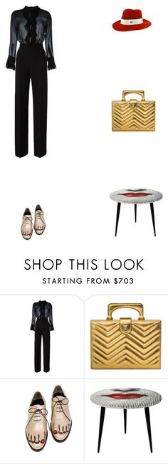 """Grace"" by zoechengrace ❤ liked on Polyvore featuring Ermanno Scervino, Gucci, Comme des Garçons, Fornasetti and MAISON MICHEL PARIS"